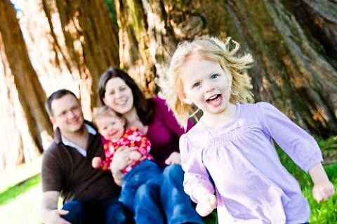 Family outdoor photo session in park