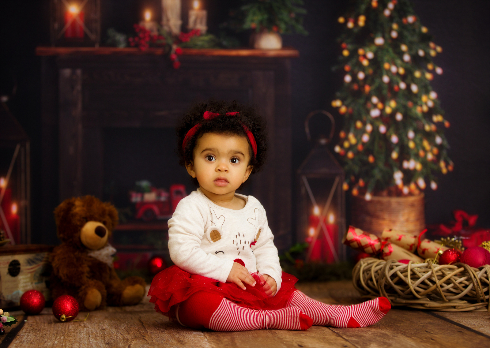 Christmas mini session photo shoot Sussex